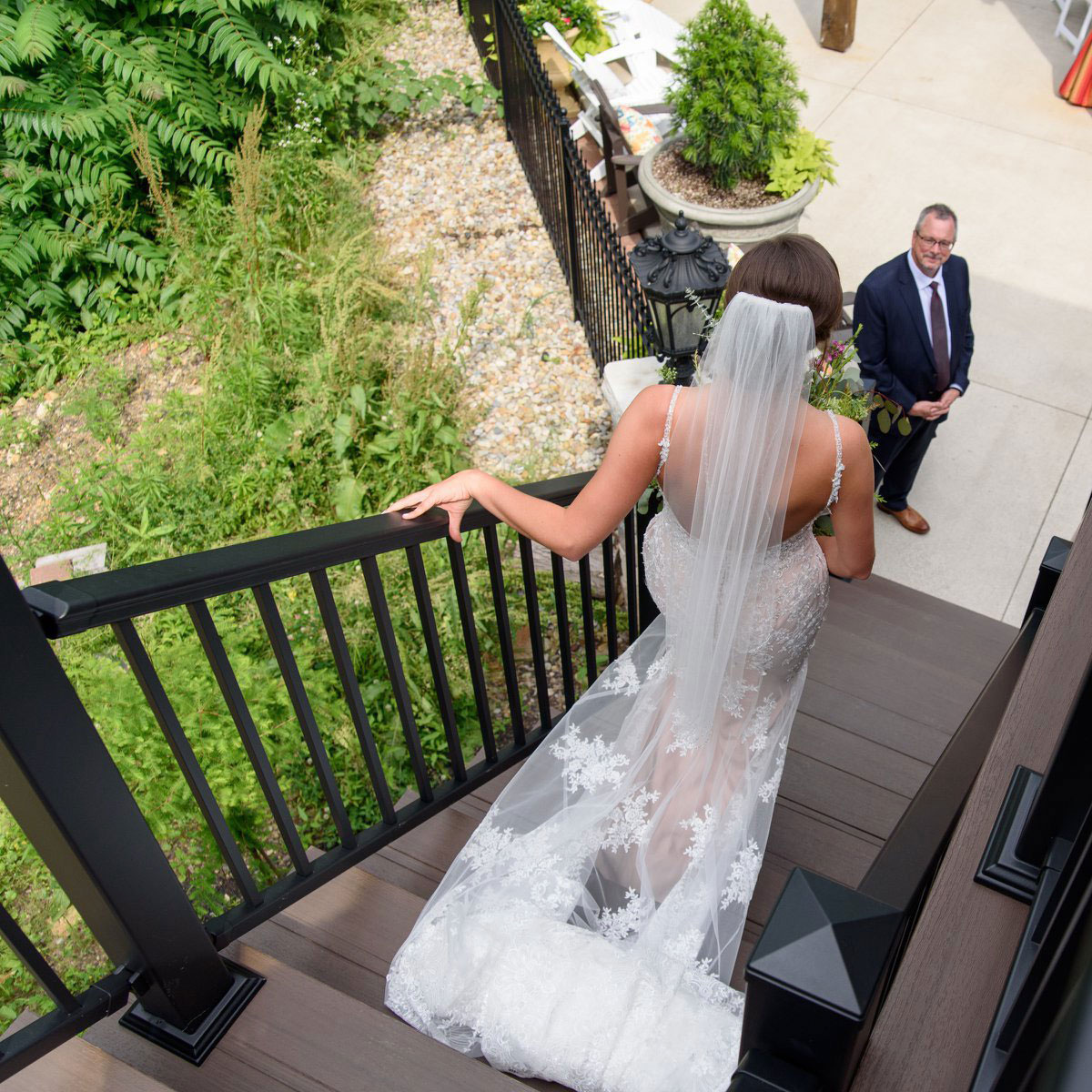 Bride Exiting The Bridal Suite